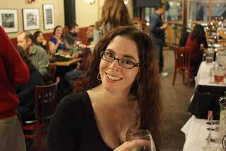 Alicia at an Endsight holiday party. Cheers!