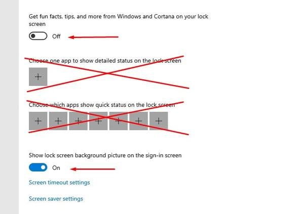 Set the Windows lock screen image options